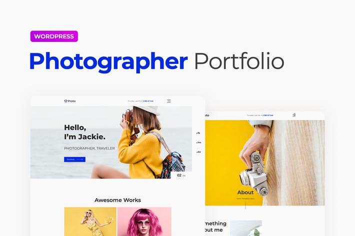Thumbnail for Proto – Photographer Portfolio Template Kit