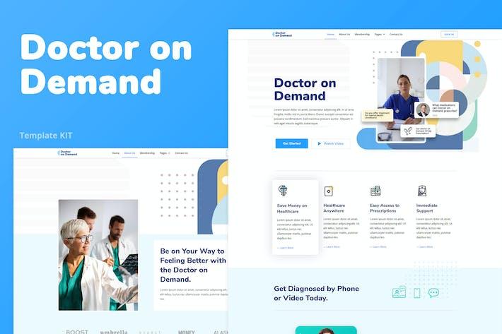 Arzt auf Anfrage — Online-Konsultationen Elementor Template Kit