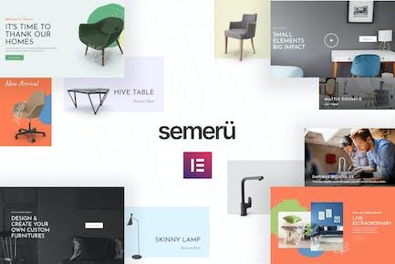 Semeru - Muebles WooCommerce Elementor Template Kit