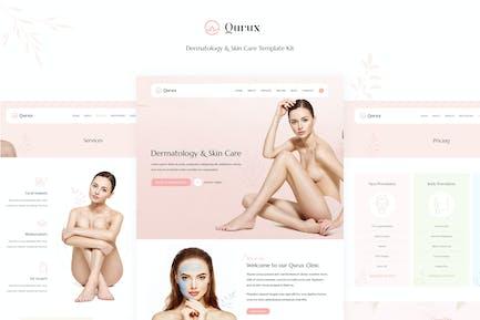 Qurux - Dermatologie & Hautpflege Elementor Template Kit