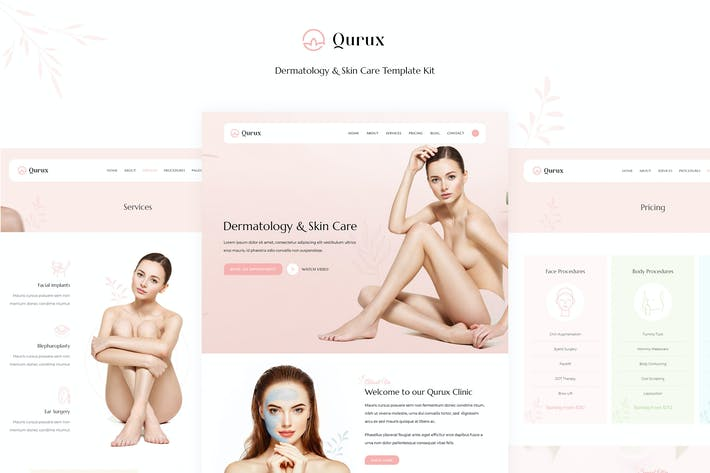 Thumbnail for Qurux - Dermatology and Skin Care Template Kit