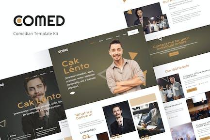 Comed  - Comedian elementor Template Kit