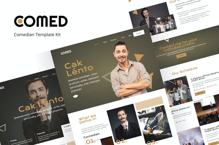 Thumbnail for Comed  - Comedian elementor Template Kit