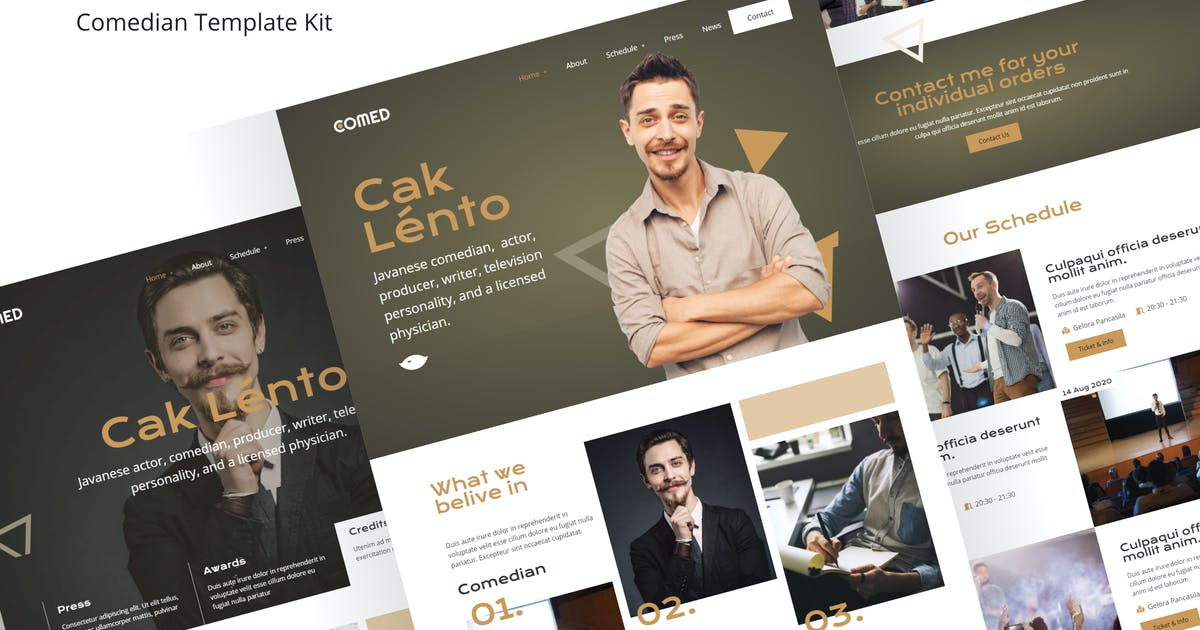 Download Comed  - Comedian elementor Template Kit by rudhisasmito