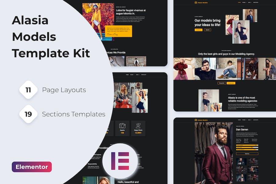 Alasia — Model Agency Elementor Template Kit