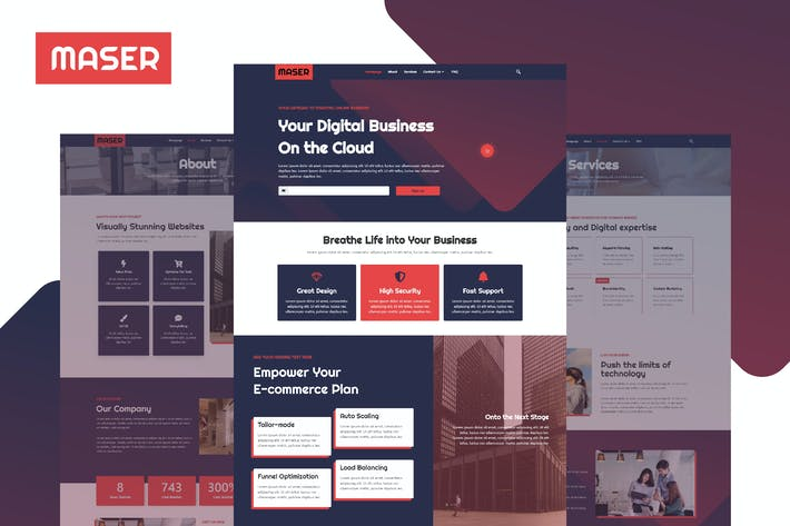Thumbnail for Maser - Web Design Agency Template Kit