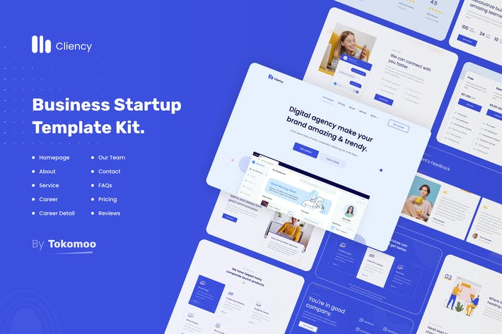Thumbnail for Clientcy | Business & Startup Elementor Template Kit