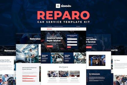 Reparo - Автосервис Элементор Template Kit