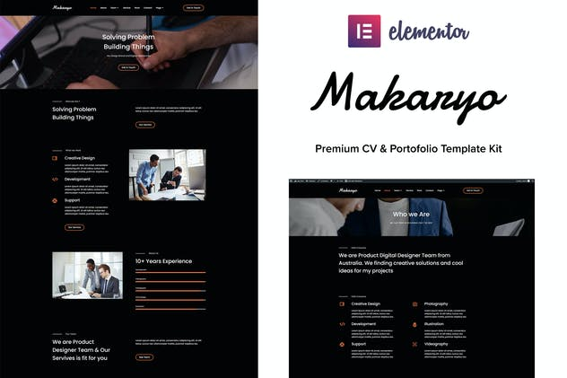 Makaryo - CV & Portofolio Elementor Kit