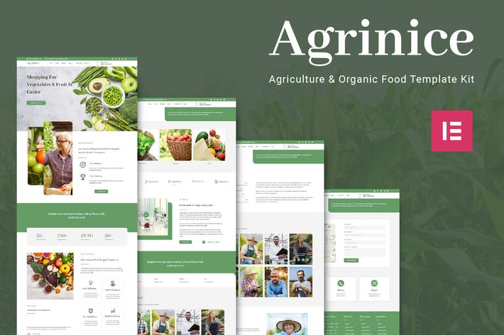 Thumbnail for Agrinice - Agriculture and Organic Food Template Kit