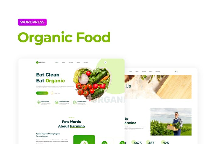 Thumbnail for Farmino – Organic Food Template Kit