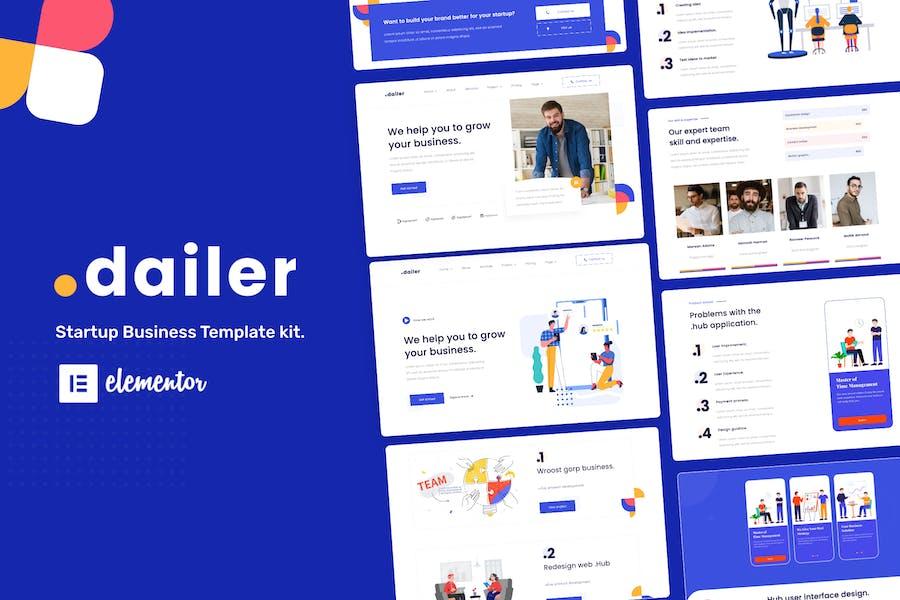 Dailer - Template Kit del elemento de inicio