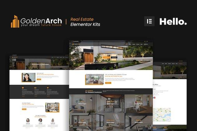 GoldenArch - Real Estate Elementor Template Kit