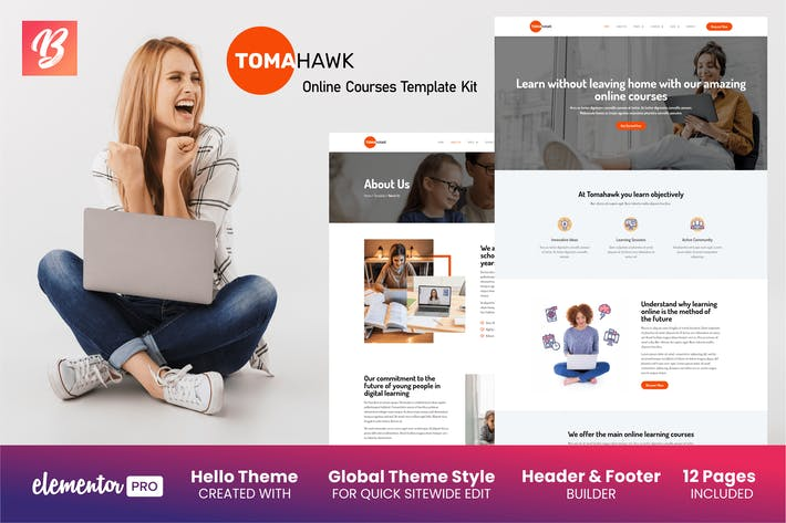 Thumbnail for Tomahawk - Cours en ligne Elementor Template Kit