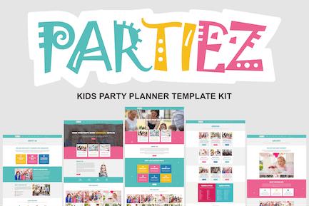 Partez - Template Kit para planificador de fiestas para niños