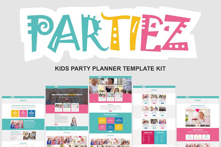Thumbnail for Partiez - Kids Party Planner Template Kit