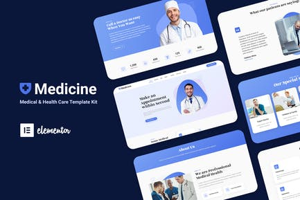 Medisine - Medical Elementor Template Kit