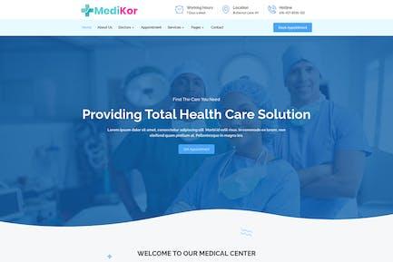 Medikor - Template Kit para elementor de atención médica