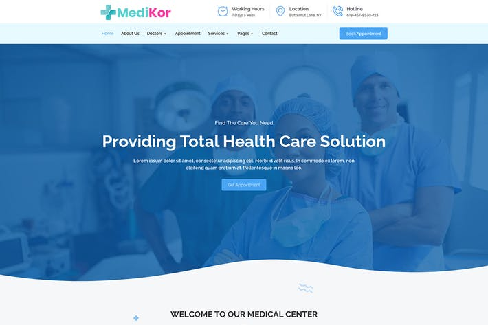 Thumbnail for Medikor - Medical Healthcare Elementor Template Kit