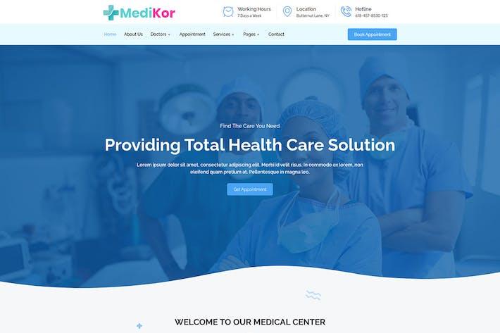 Medikor - Medical Healthcare Elementor Template Kit