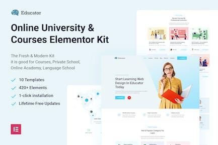 Educator - Online University & Courses Elementor Template Kit