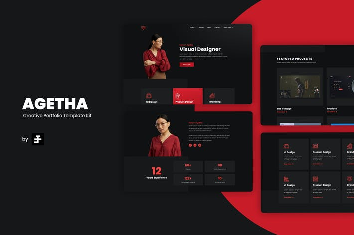 Thumbnail for Agetha - Kreatives Portfolio Template Kit