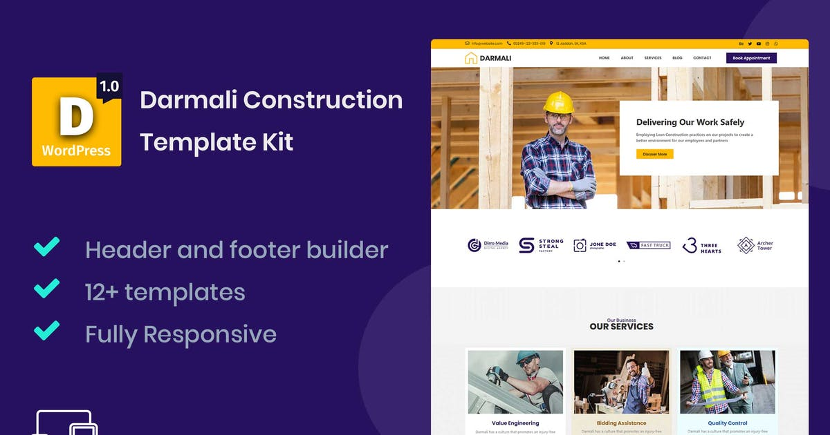 Download Darmali - Construction Template Kit by Nile-Theme