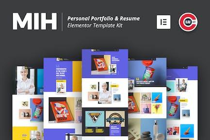 MIH - Persönliches Portfolio & Lebenslauf Template Kit