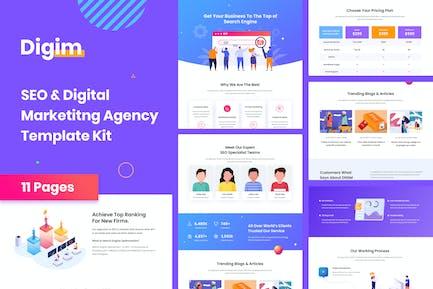 Digim - SEO & Digital Marketing Template Kit