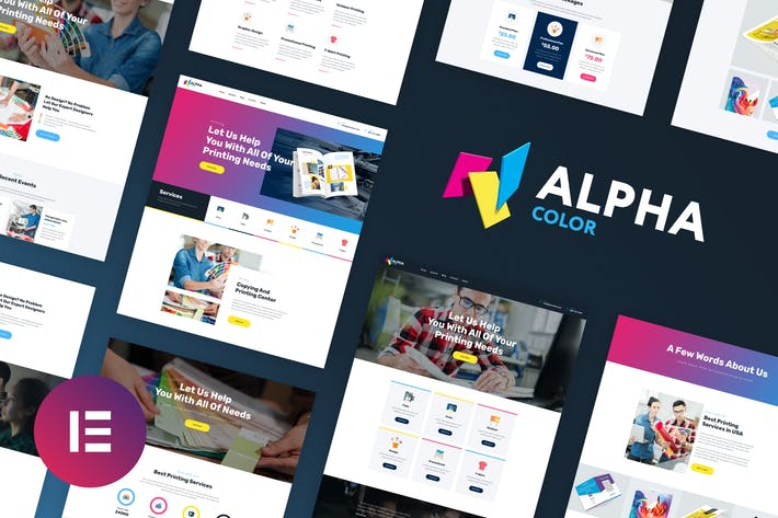 AlphaColor - Design & Druck Elementor Template Kit