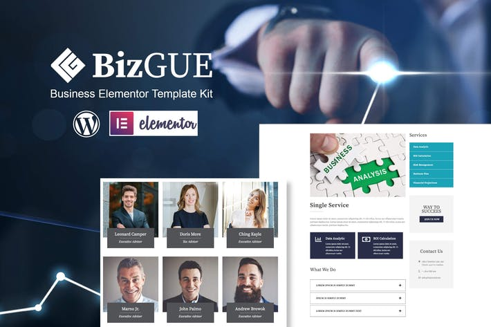 Thumbnail for BizGUE - Business Elementor Template Kit