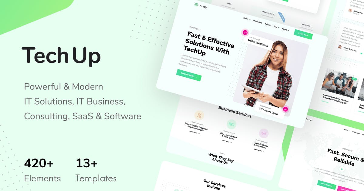 Download TechUp - Technology IT Solutions & Services Elementor Template Kit by Pixelshow