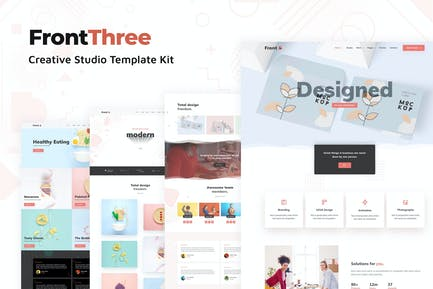 FrontThree - Creative Studio Template Kit