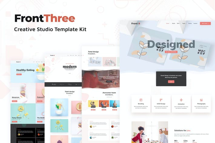 Thumbnail for FrontThree - Creative Studio Template Kit