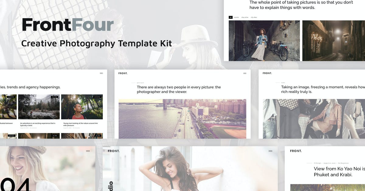 Download FrontFour - Creative Photography Template Kit by IG_design
