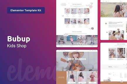 Bubup — Kids Store & Baby Shop Elementor Template Kit