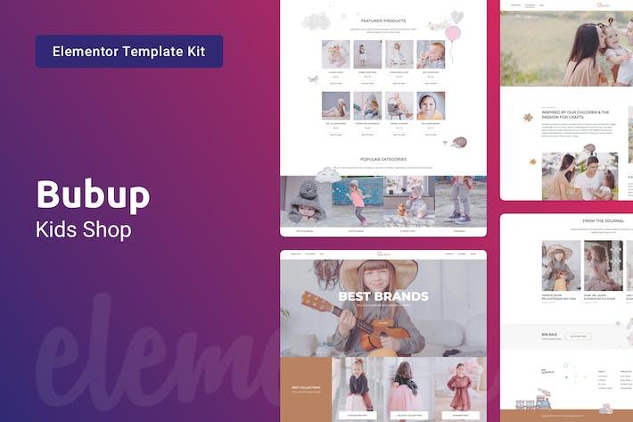 Thumbnail for Bubup — Kids Store & Baby Shop Elementor Template Kit
