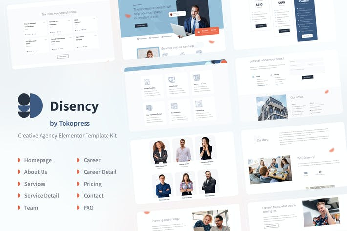 Thumbnail for Disency | Agency Elementor Template Kit
