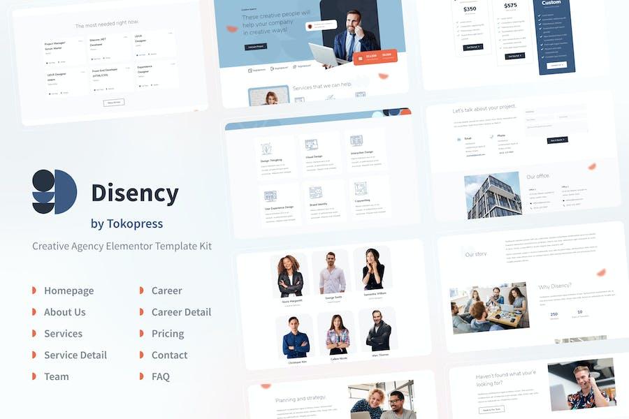 Disency   Template Kit для Агентство Elementor