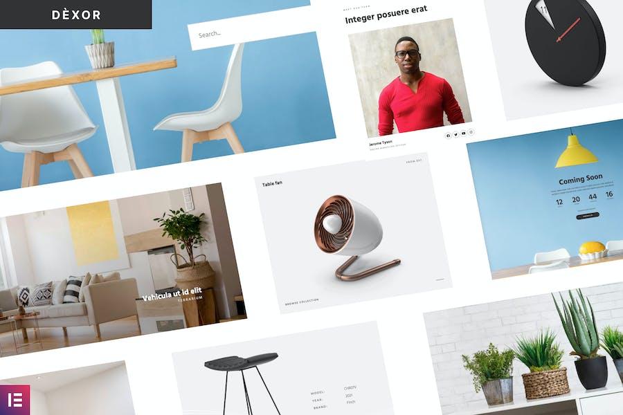 Dexor - Template Kit WooCommerce para muebles y decoración
