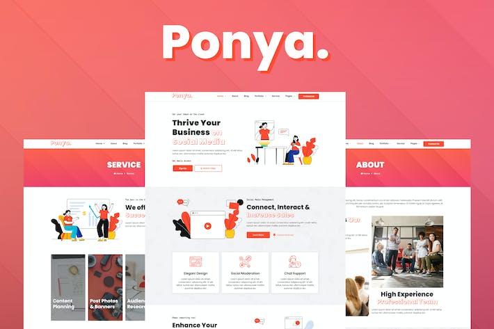 Thumbnail for Ponya - Social Media Agency Template Kit