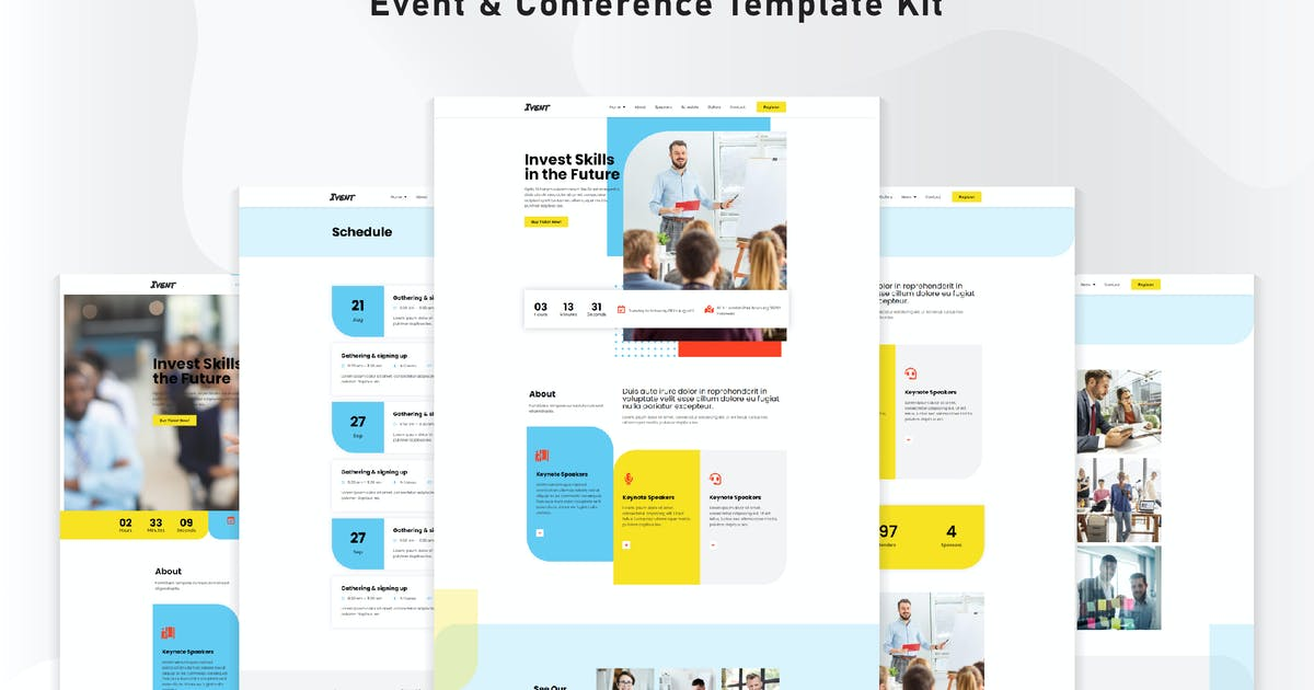 Download Ivent - Event & Conference Template Kit by NissaStudio