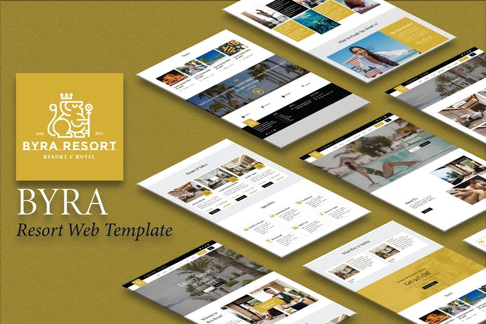 Thumbnail for Byra - Hotel & Resort Template Kit
