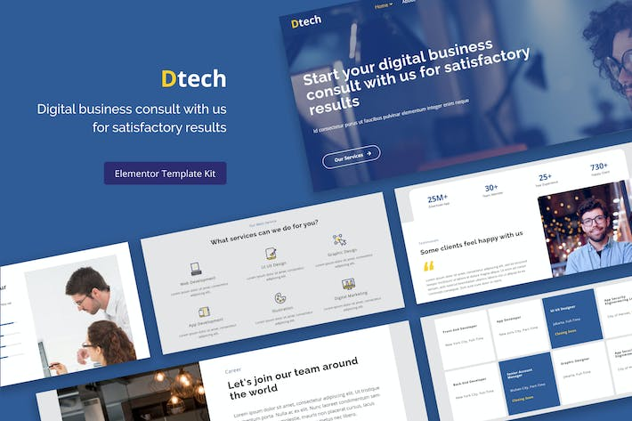 Dtech - Business Services Elementor Template Kit