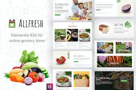 Allfresh - Lebensmittelgeschäft WooCommerce Template Kit