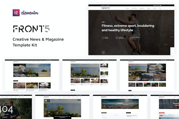 FrontFive - Template Kit para revistas y noticias creativas