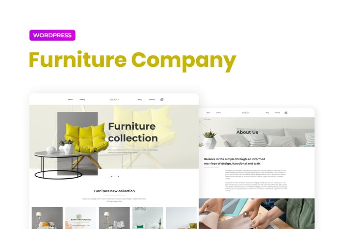 Enkel — Furniture Company Template Kit