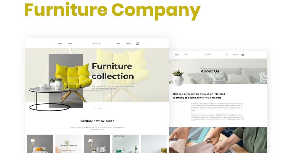 Download Enkel – Furniture Company Template Kit by merkulove