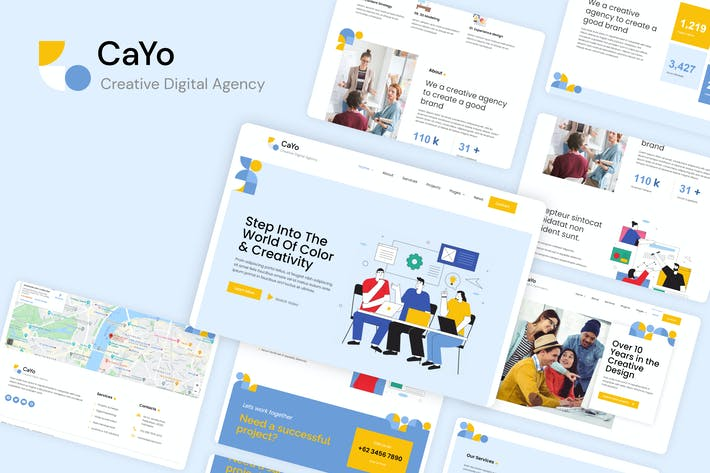 Thumbnail for CaYo - Creative Agency Elementor Template Kit