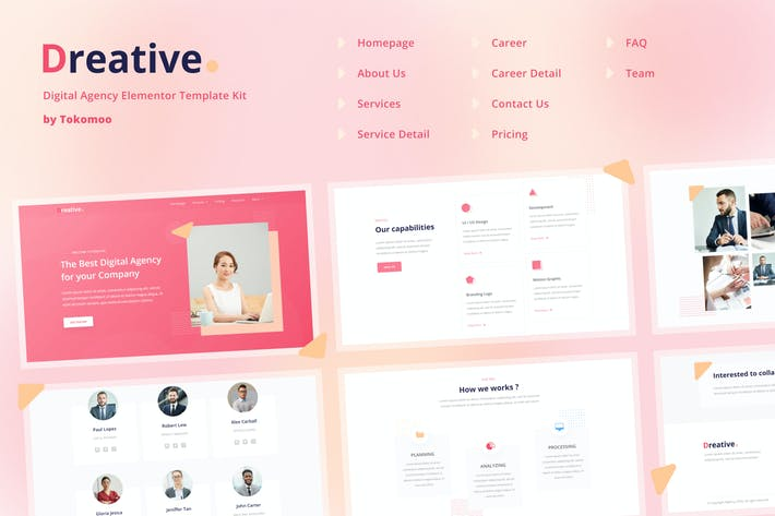 Thumbnail for Dreative | Agency Elementor Template Kit